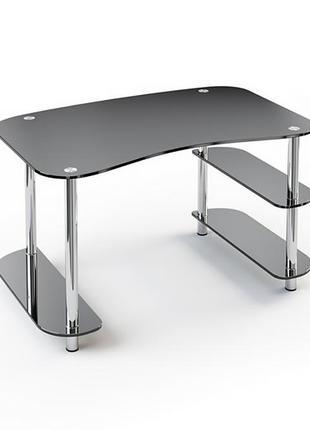 Продам стол в гостиную из чёрного стекла с железными ножками..