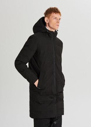 Стильный удлинённый пуховик куртка пальто