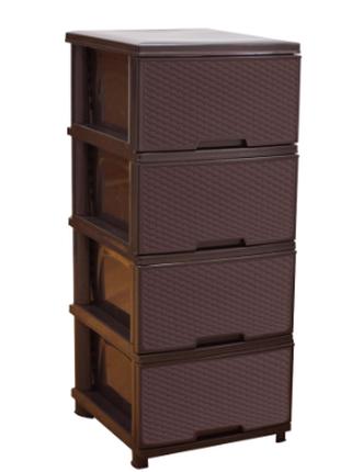 Комод  органайзер, Ротанг. Темно-коричневый