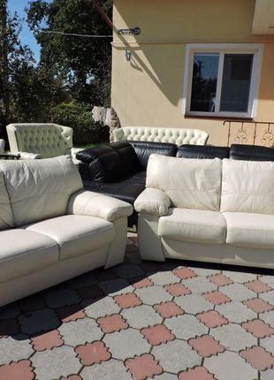 Мягкий шкіряний комплект диван 3+2 з Голландії кожаний дыван кожа