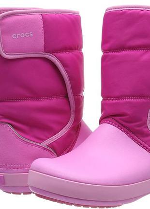 Сапоги кроксы crocs lodgepoint snow boots. оригинал
