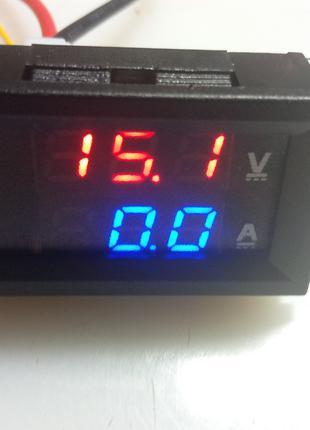 Цифровий вольтметр-амперметр з шунтом. 100 В, 50 А.