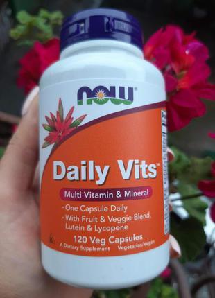Мультивитамин Daily Vits, NOW Foods, 120 шт, вітаміни