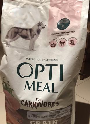 Optimeal Adult Grain Free Duck&Vegetables dog Оптимил для собак