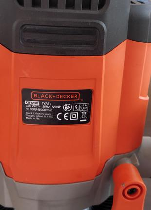 Фрезер Black+Decker KW1200E 1200 Вт 6-8 мм