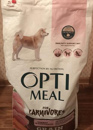 Optimeal Adult Grain Free Turkey&Vegetables dog Оптимил корм для