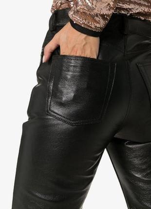 Черные кожаные брюки vera pelle
