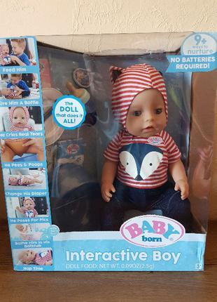 Кукла мальчик Беби Борн голубые глаза Baby Born Interactive Bo...
