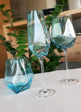 Бокалы фужеры для вина шампанского стаканы для напитков келихи