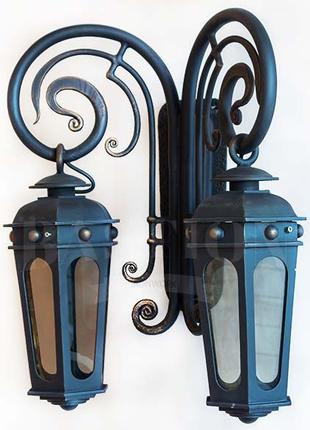 28 Оригинальный садово-парковый светильник или с настенным кре...