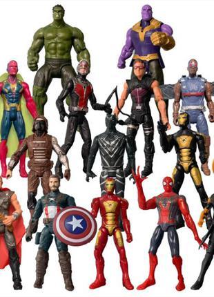 """Набор фигурок 14в1 """"Мстители"""" 17см, супергерои Marvel"""