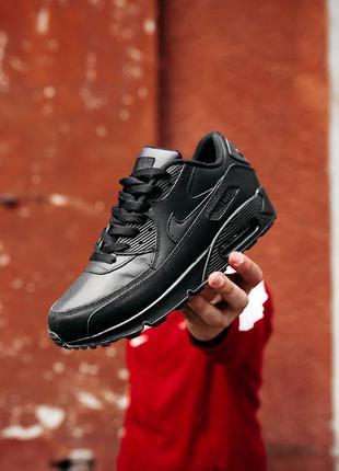 Nike air max 90 black, кросовки найк аир макс 90 чёрные