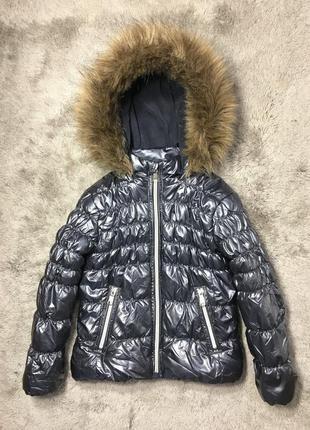 Красивая демисезонная лаковая куртка palomino, размер 104