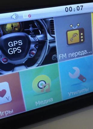 GPS навигатор GPS-5002, 5 дюймов, DDR2 128Mb, 8Gb