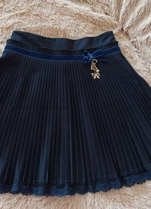 Юбка школьная Моне, юбочка плиссеровка Mone