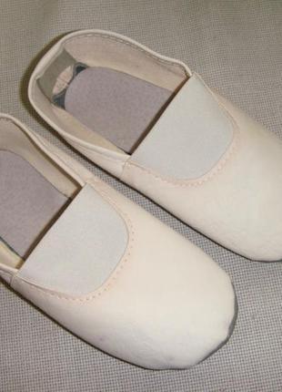 Детские белые чешки балетки р.30 стелька 19