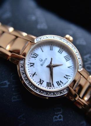 -50% скидка на бриллианты! женские часы с бриллиантами bulova,...
