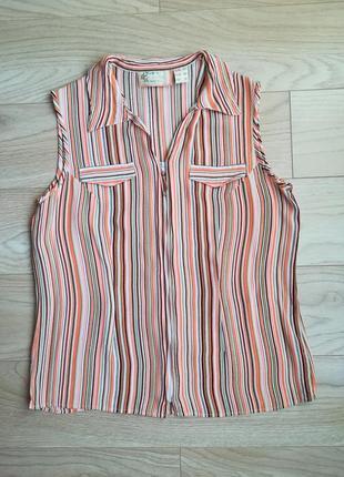Летняя блуза в мелкую полоску