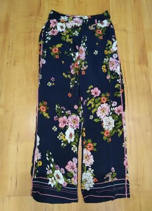 Классные цветочные летние брюки, штаны с-м