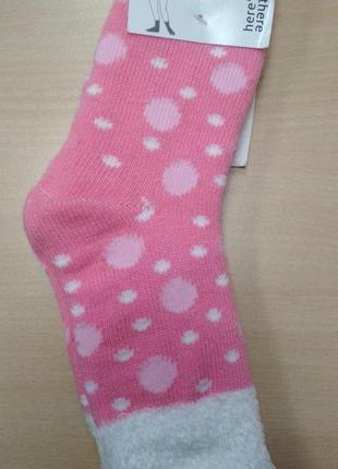 Носки, детские, теплые, зимние, розовые, для девочки, размер 3...