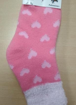 Носки, детские, теплые, зимние, розовые, для девочки, размер 2...