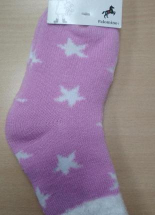 Носки, детские, теплые, зимние, сиреневые, для девочки, размер...