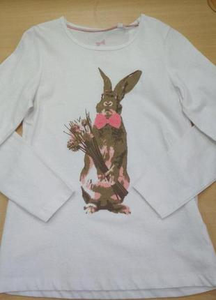 Кофта, футболка, на девочку, хлопок, белая, тонкая, лонгслив, ...