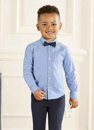 Рубашка, классическая, хлопковая, на мальчика, рост 86