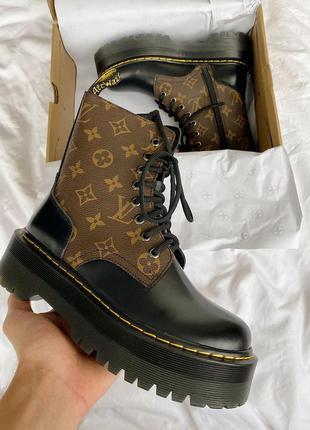 Dr. martens jadon louis vuitton premium женские ботинки наложе...