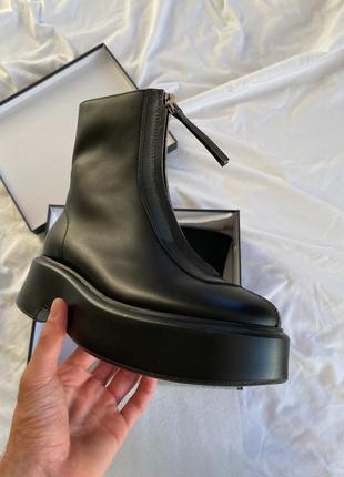 The row boots чёрные женские ботинки наложенный платёж купить