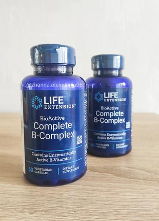 Life Extension, Биоактивный комплекс витаминов группы B, 60 шт