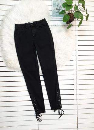 Джинсы скинни со шнуровкой new look jenna p. xs-s