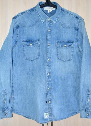 Рубашка джинсовая H&M® original L б.у. Y9-A5-3