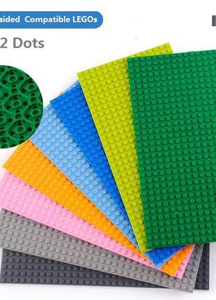 Пластина для ЛЕГО, LEGO поле 25х12,5 см
