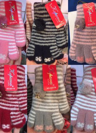 Детские зимние перчатки, 6 расцветок