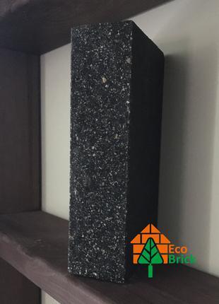Кирпич облицовочный ECOBRICK мрамор ложок 250x110x65 мм черный