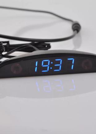 Часы автомобильные + датчик наружной температуры + вольтметр