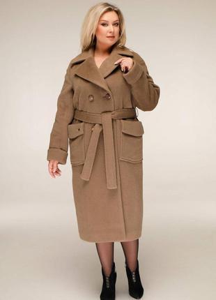 Пальто демисезонное шерстяное на подкладке.