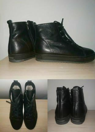 Зимние ботинки 42-43 р кожаные