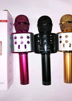 Детский беспроводной аккумуляторный караоке микрофон