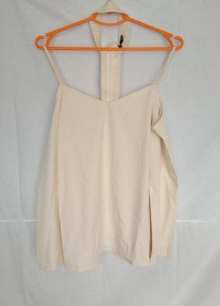 Блузка блуза с чокером boohoo белая открытые плечи открытыми п...