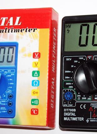 Мультиметр цифровой DT700B, большой ЖК дисплей