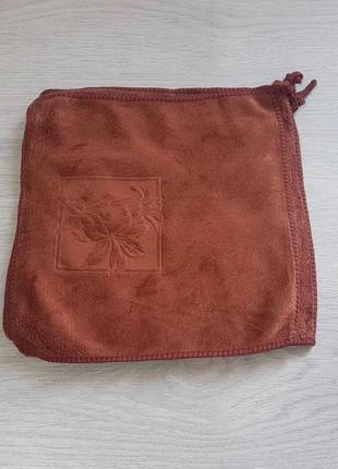 """Кухонная салфетка """"лилия"""" микрофибра 24*24, цвет: коричневый"""