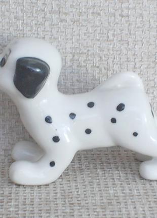№449 Фарфоровая мини фигурка статуэтка щенок Далматинец Германия