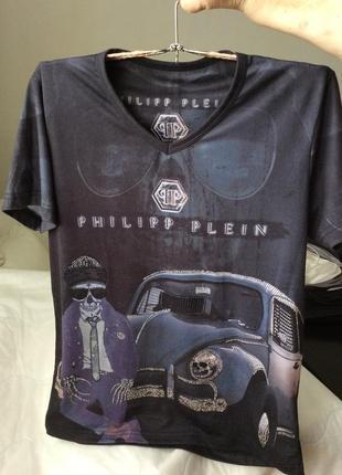 Трендовая футболка черепа philipp plein