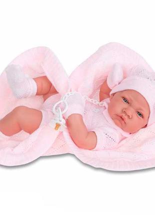 Кукла младенец Тони в розовом 42 см, Antonio Juan 5064