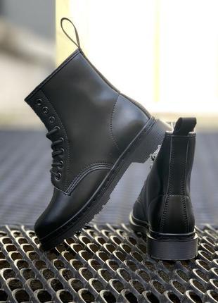 Кожаные ботинки dr. martens 1460 mono black шкіряні черевики н...