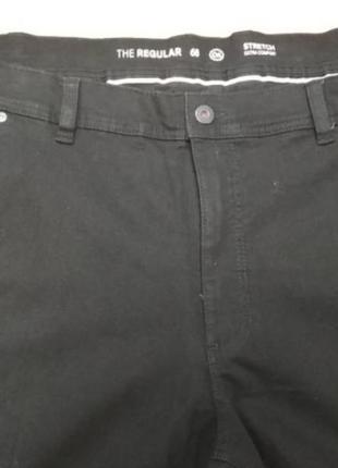 Джинсы, мужские, черные, c&a, баталы, большого размера, 74
