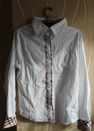 Модная женская рубашка блузка burberry с класическим орнаментом