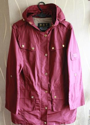 Красочная весеняя парка barbour maroon scooter suit hooded del...